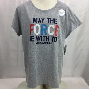 Star Wars Disney Short Sleeve Crew Neck T-Shirt